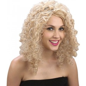 Curly Blonde Wig - Fancy Dress Ladies