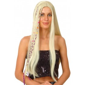 Blonde Hippie Wig - Fancy Dress Ladies (1960S)