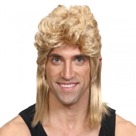 Mens 80'S Mullet - Blonde Wigs - (Blond)