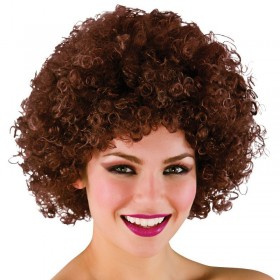 Mens Funky Afro - Brown 120Gm Wigs - (Brown)