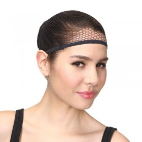 Ladies Wig Cap - Black Wigs - (Black)