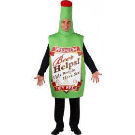 Funny Beer Bottle Fancy Dress Costume (Cultures)
