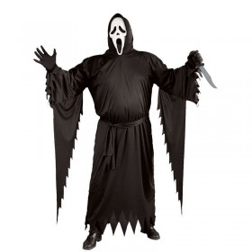 Mens Adult Scream Halloween Outfit - (Black)