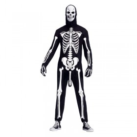 Skeleboner Costume With Pump (Adult) Fancy Dress