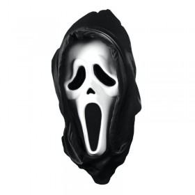 Scream 4 Mask With Shroud Fancy Dress (Halloween)