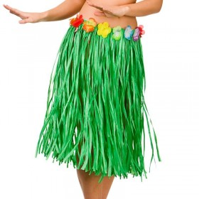 Green Hawaiian Hula Skirt 60Cm Fancy Dress Accessory