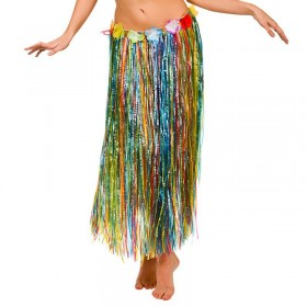 Multicolour Hawaiian Hula Skirt 80Cm Fancy Dress Accessory