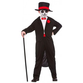 Boys Day Of The Dead Senor Halloween Fancy Dress Costume