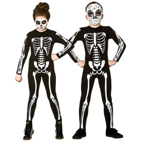 Childs Skeleton Jumpsuit Halloween Fancy Dress Costume