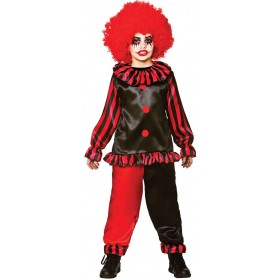 Boys Red/Black Evil Clown Halloween Halloween Costume