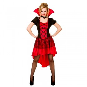 Ladies Glamorous Vamp Halloween Fancy Dress Costume