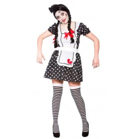 Ladies Broken Doll Halloween Fancy Dress Costume