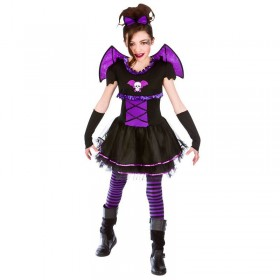 Girls Batty Ballerina Halloween Fancy Dress Costume