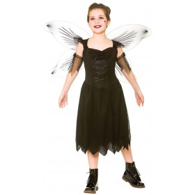 Girls Dark Fairy Halloween Fnacy Dress Costume