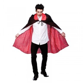 "Mens Reversable Satin Cape With Collar 45"" (115Cm) Halloween Costume"