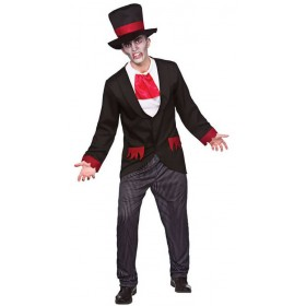 Mens Victorian Vampire Halloween Fancy Dress Costume