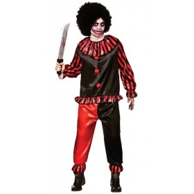 Mens Red/Black Horror Clown Halloween Halloween Costume