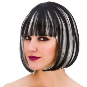 Ladies Dark Diva Wig Halloween Fancy Dress Accessory