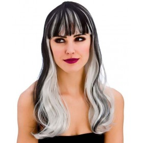 Ladies Dark Fantasy Wig Halloween Fancy Dress Accessory