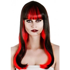 Ladies Alluring Vampire Wig Halloween Fancy Dress Accessory