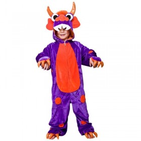 Childs Unisex Monster Purple With Orange Spots Animal -  (Purple/Orange)
