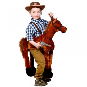 Childs Unisex Ride On Horse Animal Outfit - One Size (Brown)