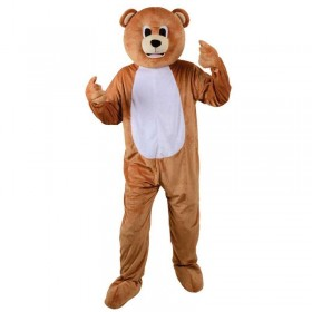 Adult Unisex Mascots - Teddy Bear Animal Outfit - One Size (Brown)