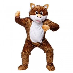 Adult Unisex Mascot - Tiger Animal Outfit - One Size (Animal Print)
