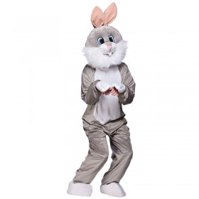 Adult Unisex Mascot - Grey Rabbit Animal Outfit - One Size (Grey)