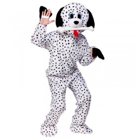 Adult Unisex Mascot - Dalmation Animal Outfit - One Size (Black, White)