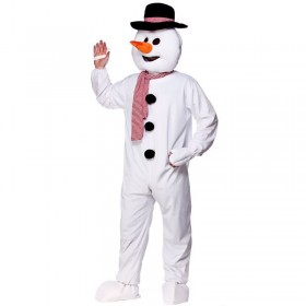 Adult Unisex Mascot - Snowman Christmas Outfit - One Size (White)