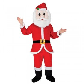 Adult Unisex Mascot - Santa Christmas Outfit - One Size (Red)