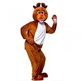 Adult Unisex Mascot - Reindeer Christmas Outfit - One Size (Brown)