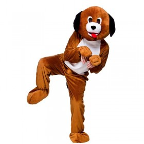 Adult Unisex Puppy Dog Mascot Animal Outfit - One Size (Brown)