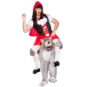 Wolf Red Riding Hood Carry Me Fancy Dress Costume