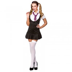 Ladies Naughty Schoolgirl School Outfit - (Grey)