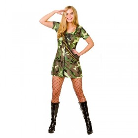 Ladies Sexy Army Girl Fancy Dress Costume
