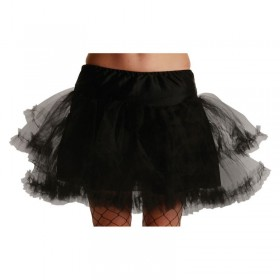 3 Layer Ruffle Petticoat-Blk - Fancy Dress Ladies