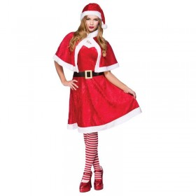 Ladies Liitle Miss Santa Christmas Outfit -  (Red,White)