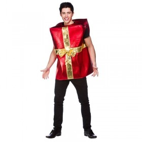 Adult Unisex Christmas Gift Christmas Outfit - One Size (Red, Gold)