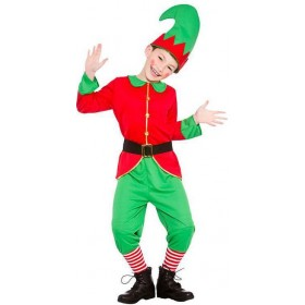 Childs Christmas Workshop Elf Fancy Dress Costume