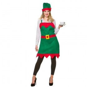 Elf Apron & Hat One Size Costume