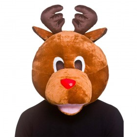 Reindeer Head Christmas Accessory