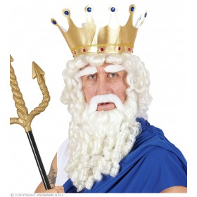 Zeus Curly Locks Wig With Beard, Moustache, Fancy Dress (Animals)