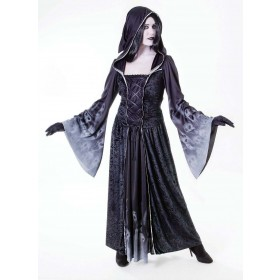 Ladies Forgotten Souls Female Halloween Outfit - One Size (Black)