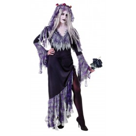 Ladies Spider Zombie Bride Halloween Fancy Dress Costume