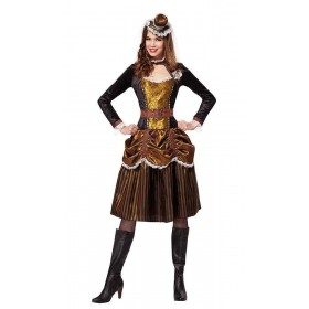 Steampunk Lady Fancy Dress Costume