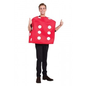 Poker Dice Fancy Dress Costume Red