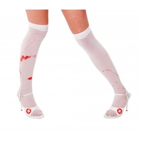 White Stockings + Blood Stains (Halloween , Sexy Tights)