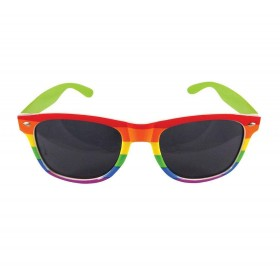 Rainbow Dark Lens Glasses Fancy Dress Accessory